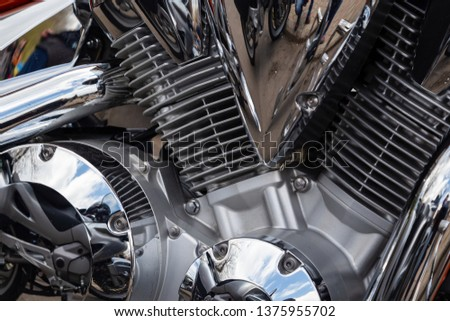 Motorcycle at the spring closing of the motorcycle season #1375955702