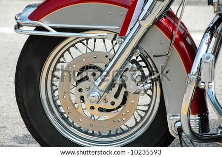 Motorcycle close up