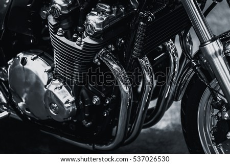 motorcycle engine art photography in black and white #537026530