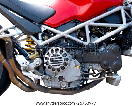 Motorcycle Engine closeup