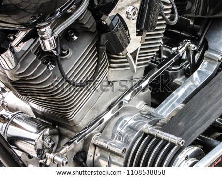 motorcycle engine with transmission belt  #1108538858