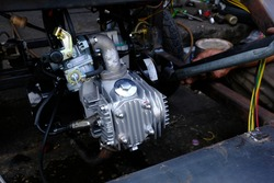 Motorcycle engines have been modified by skilled technicians.