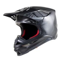 Motorcycle Full Face Helmet Isolated on White Background. Fibreglass Scooter Helmet. Black & Red Sport Touring Motorbike Helmet. Protective Equipment. Modern Headgear