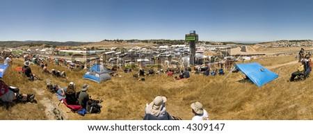 Motorcycle Grand Prix in Laguna Seca, California - stock photo