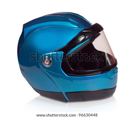 Motorcycle Helmet isolated on white with clipping path