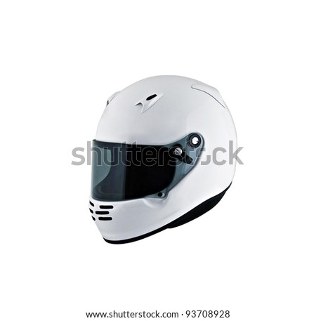 motorcycle helmet over white background, studio isolated.