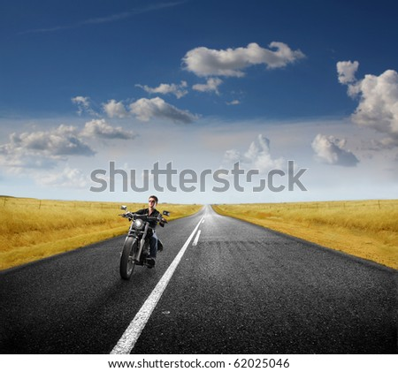 motorcycle on the street