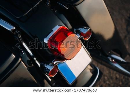 Motorcycle rear taillight lamp close up Stockfoto ©