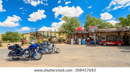 MOTORCYCLE REST STOP-AUGUST 2015; Route 66 Hackenberry General Store #308457683
