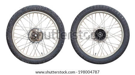 motorcycle Wheels isolated on white background #198004787