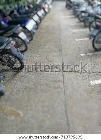 Motorized parking,concept blur #713795695