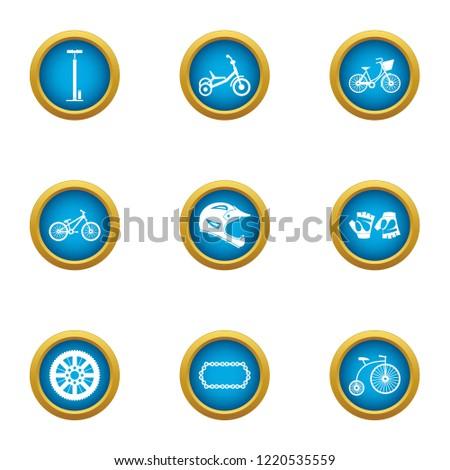 Motorshow icons set. Flat set of 9 motorshow icons for web isolated on white background