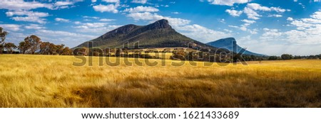 Mount Abrupt in Grampians National Park, Victoria, Austrlaia - wide panorama Stock photo ©