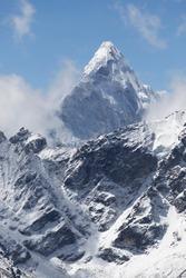 Mount Ama Dablam. Himalaya Mountain Range. Nepal.