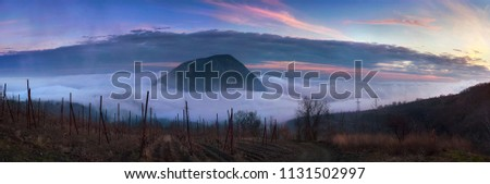Mount Ayu-dag, Crimea covered in clouds