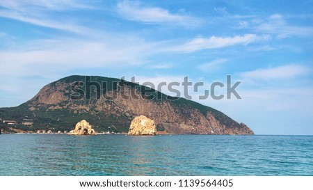 Mount Ayu-Dag from the Black Sea in Crimea.