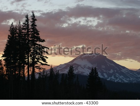Mount Bachelor Sunset