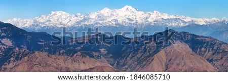 Mount Bandarpunch, Himalaya, panoramic view of Indian Himalayas, great Himalayan range, Uttarakhand India, view from Mussoorie road, Gangotri range