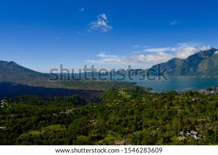 Mount Batur and Lake in Bali #1546283609