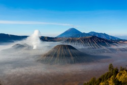 mount bromo in the morning.