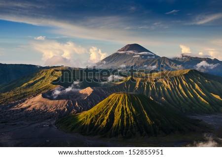 Mount Bromo volcanoes in Bromo Tengger Semeru National Park, East Java, Indonesia.