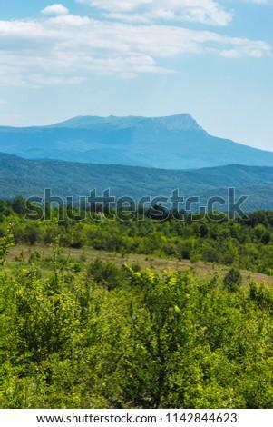 Mount Chatyr-dag on a sunny summer day, Crimea