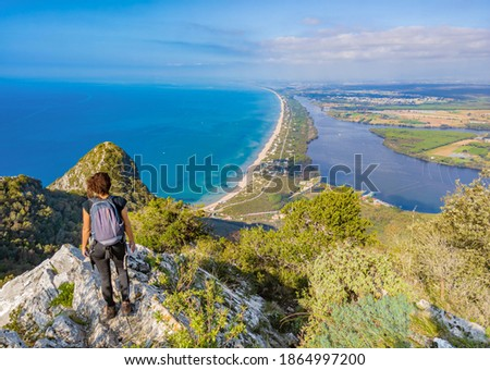 Mount Circeo (Latina, Italy) - The famous mountain on the Tirreno sea, in the province of Latina, very popular with hikers for its beautiful landscapes. Foto d'archivio ©