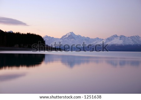 Mount Cook Reflection - Pukaki River