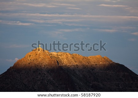 Mount Cristo Rey - stock photo