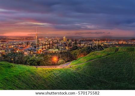 Mount eden and Auckland city