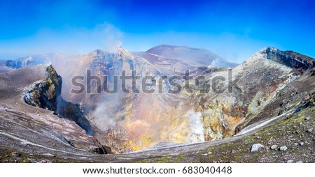 Mount Etna, Sicily -  Tallest active volcano of Europe 3329 m in Italy. #683040448