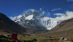 Mount Everest from Rangbuk Valley, Tibet