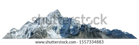 Mount Everest isolated on white background