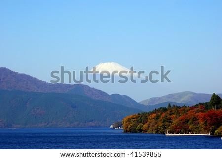 Mount Fuji and Lake Ashi, Hakone National Park, Japan