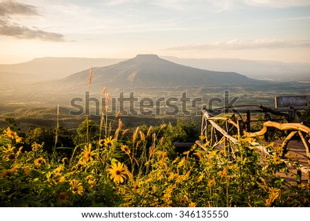 Mount Fuji at Loei Province, Thailand. This's Mountain looks like Mount Fuji in Japan. #346135550