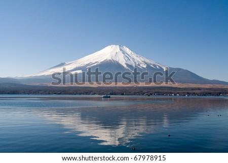 Mount Fuji with Lake Yamanaka