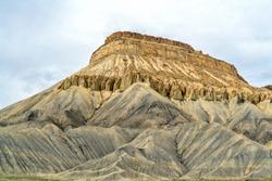 Mount Garfield, dramatic mountain landmark near Grand Junction, Colorado