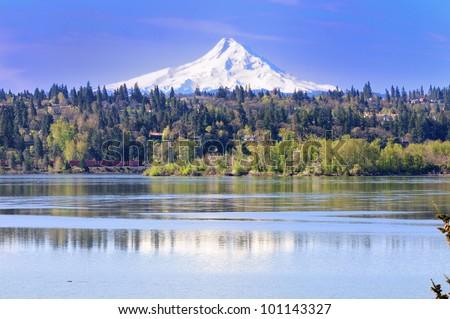 Mount hood and reflection