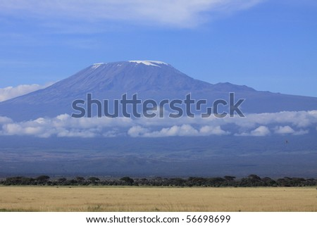 Mount Kilimanjaro in the early morning African light