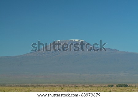 Mount Kilimanjaro on a beautiful clear day