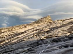 Mount Kinabalu with a Stormy Sky
