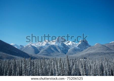 Mount Lougheed near Banff in the Canadian Rockies