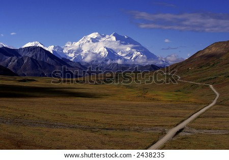 Mount Mckinley the highest mountain in america.