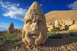 mount nemrut in Turkey.