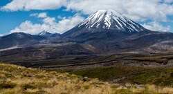 Mount Ngauruhoe in New Zealand filmed in the Lord of the Rings as Mount Doom