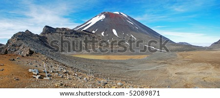 Mount Ngauruhoe in Tongariro NP, New Zealand