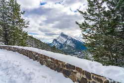 Mount Norquay Banff View Point. Banff National Park, Canadian Rockies, Canada.