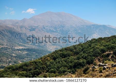 Mount Psiloritis. At 2,456 m (8,058 feet), Psiloritis is the highest mountain on Crete Stock fotó ©