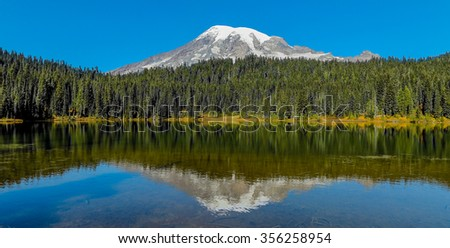 mount rainier and reflection...