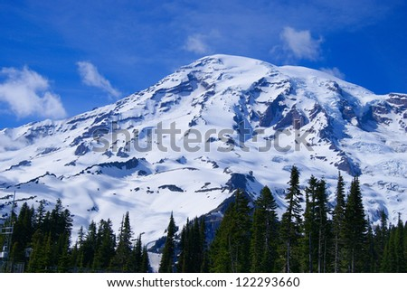 Mount Rainier, the highest mountain in Washington